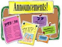 **DAILY ANNOUNCEMENTS**