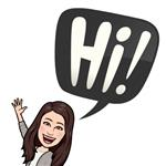 My Bitmoji saying hi
