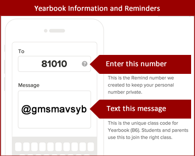 Yearbook Remind 101 Info