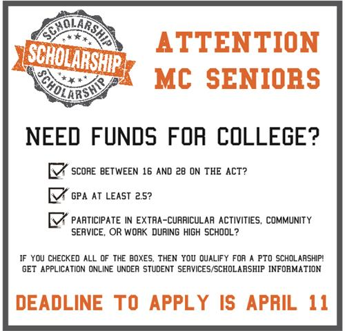 Click for more info about MCHS PTO Scholarship