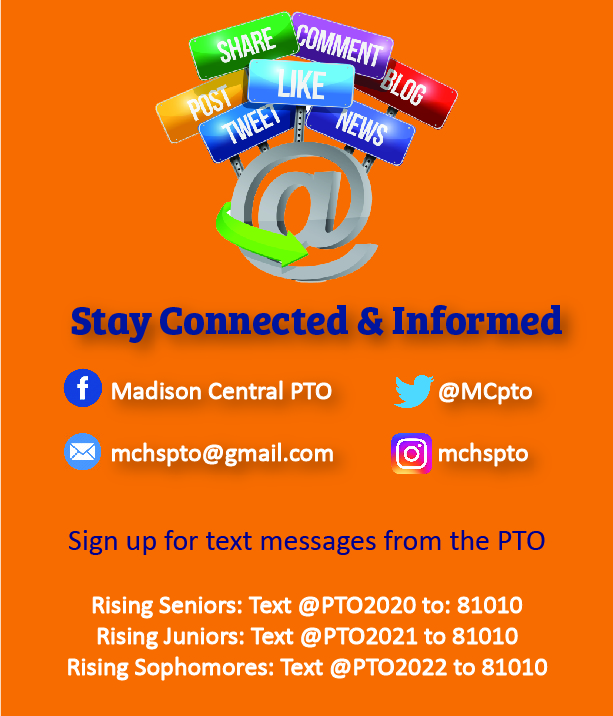 Stay Connected & Informed by following the PTO