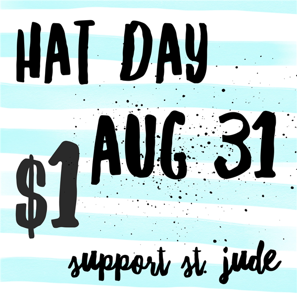 Hat Day is August 31st!