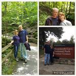 Bard and I at Mammoth Cave in Kentucky