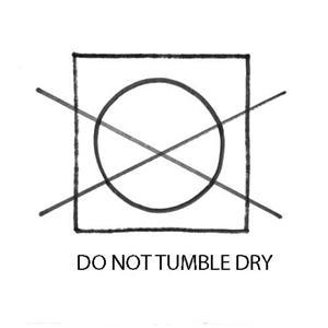 no tumble dry