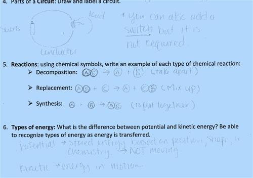 Sixth grade science final exam study guide